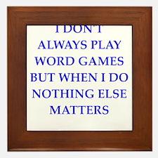 word games joke Framed Tile