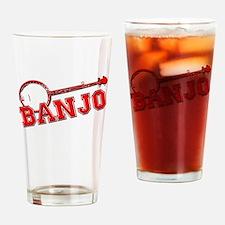 Red Banjo Drinking Glass