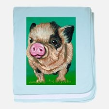 Micro Pig baby blanket