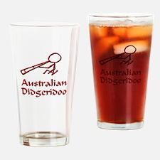 Red Didgeridoo Drinking Glass