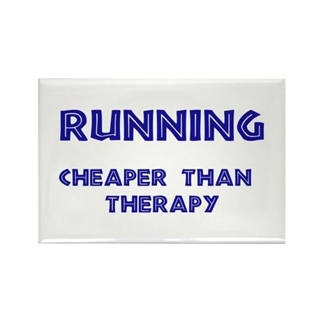 Running: Cheaper than therapy Rectangle Magnet