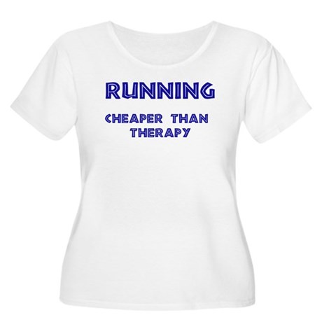 Running: Cheaper than therapy Women's Plus Size Sc