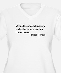 Wrinkles (Mark Twain Quote) T-Shirt