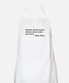 Wrinkles (Mark Twain Quote) BBQ Apron
