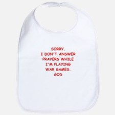 war games joke on gifts and t-shirts. Bib
