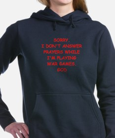war games joke on gifts and t-shirts. Women's Hood