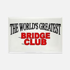 """The World's Greatest Bridge Club"" Rectangle Magne"