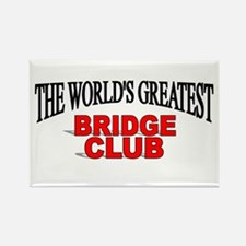 """The World's Greatest Bridge Club"" Rectangle Magne"