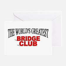 """The World's Greatest Bridge Club"" Greeting Card"