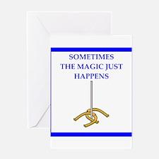 horseshoes joke Greeting Cards