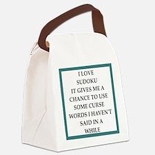 sudoku joke Canvas Lunch Bag