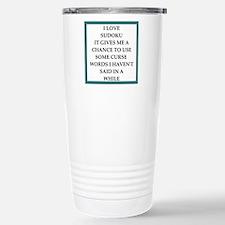 sudoku joke Travel Mug