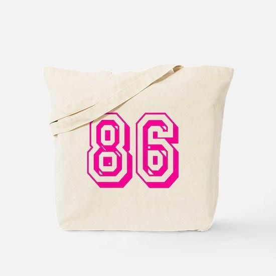 86 Pink Birthday Tote Bag