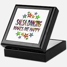 Salsa Dancing Happy Keepsake Box