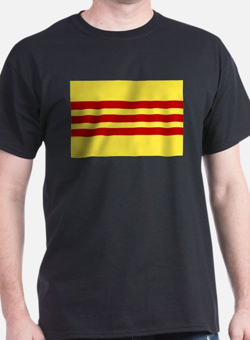 Vietnamese Flag Ash Grey T-Shirt