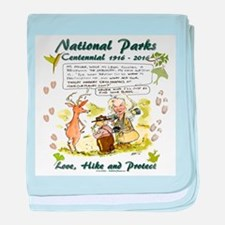 National Parks Centennial baby blanket