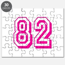 82 Pink Birthday Puzzle