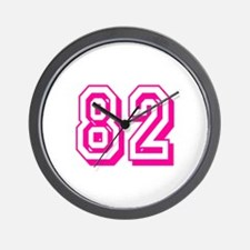 82 Pink Birthday Wall Clock