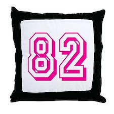82 Pink Birthday Throw Pillow