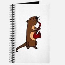 Funny Sea Otter with Saxophone Journal