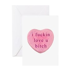 Cute Crude valentine Greeting Card