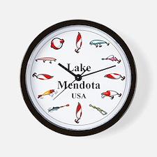 Lake Mendota Clocks Wall Clock