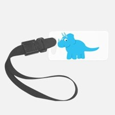 Cute Triceratops Dinosaur Luggage Tag