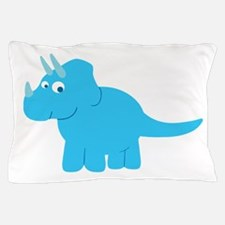 Cute Triceratops Dinosaur Pillow Case