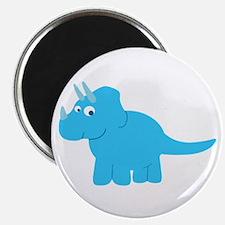 "Cute Triceratops Dinosaur 2.25"" Magnet (10 pack)"
