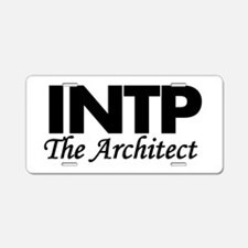 INTP | The Architect Aluminum License Plate