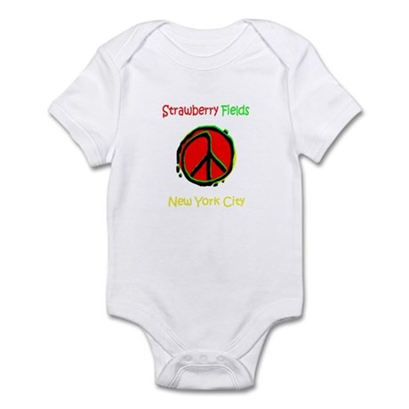 """STRAWBERRY FILEDS NYC"" Infant Bodysuit"