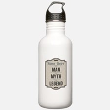 Personalized Man Myth Water Bottle