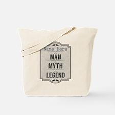 Personalized Man Myth Legend Tote Bag