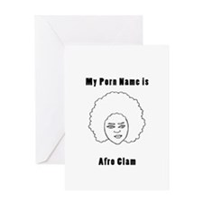 afroclam Greeting Cards