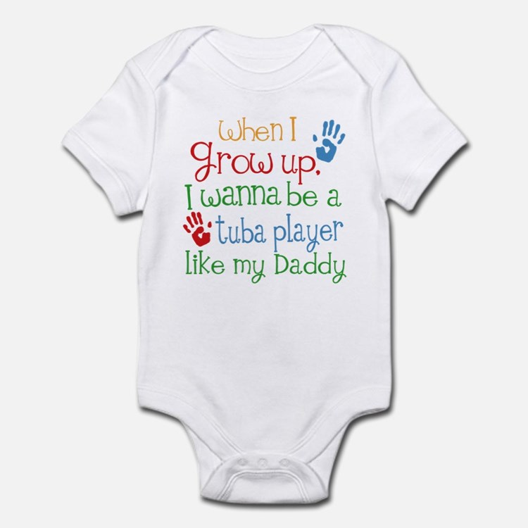 Tuba Player Like Daddy Infant Bodysuit