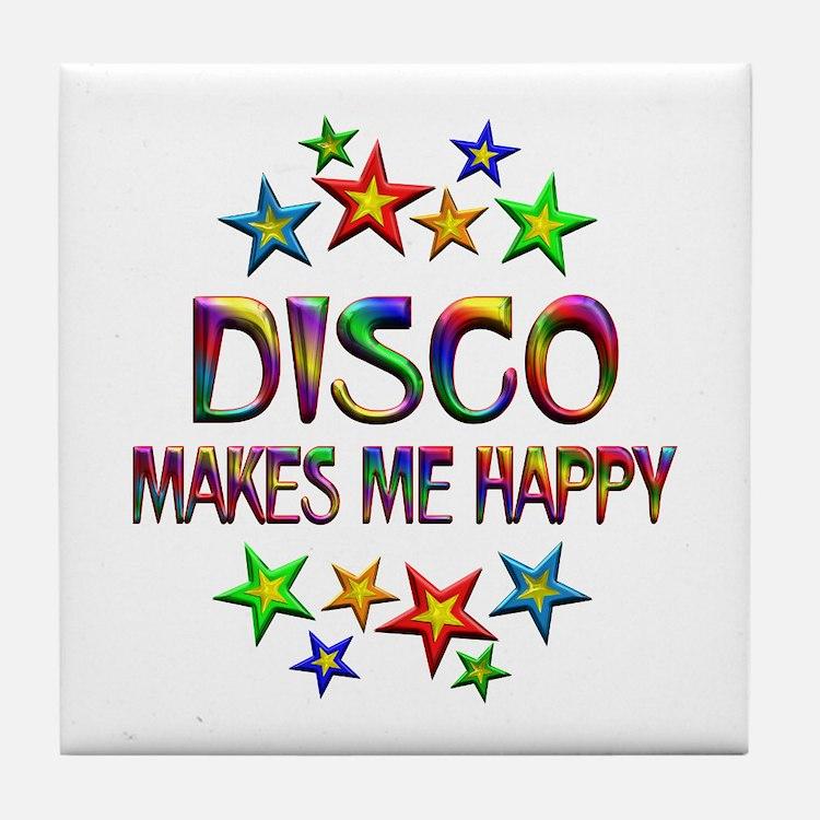 Disco Happy Tile Coaster