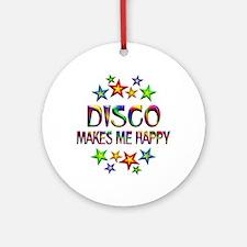 Disco Happy Round Ornament