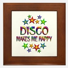 Disco Happy Framed Tile
