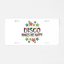 Disco Happy Aluminum License Plate
