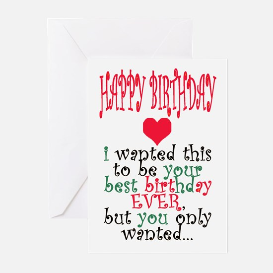 BIG, GRAY, HAIRY BIRTHDAY Cards (Pk of 10)