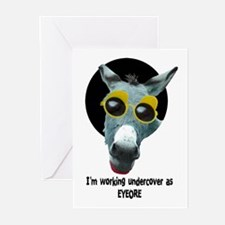 DONKEY INCOGNITO! Greeting Cards (Pk of 10)