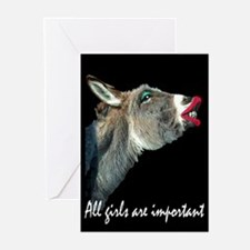 ALL GIRLS ARE IMPORTANT Greeting Cards (Package of