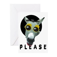 GREEN DONKEY Greeting Cards (Pk of 10)