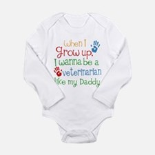 Veterinarian Like Dadd Long Sleeve Infant Bodysuit