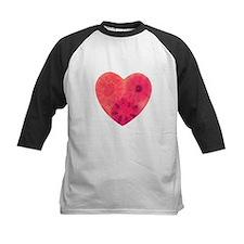 Red tye dye heart Baseball Jersey