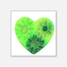 Green tye dye heart Sticker
