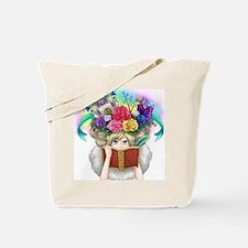 Cute Book goddess Tote Bag