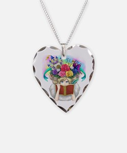 Unique Reader Necklace Heart Charm