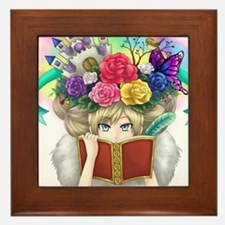 Cute Reader Framed Tile
