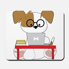 Cute Puppy and Laptop Mousepad